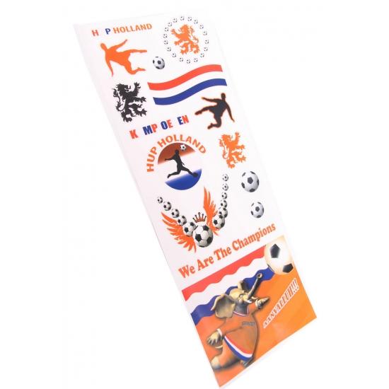 Raamstickers Oranje supporters 2 stuks