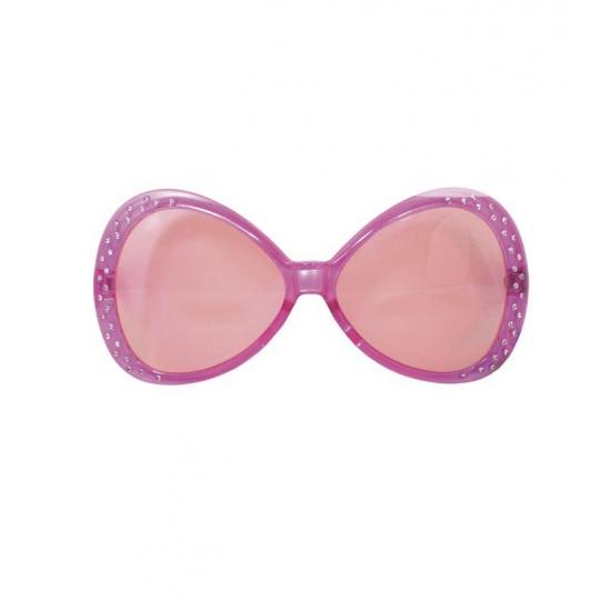Roze brillen met diamantjes