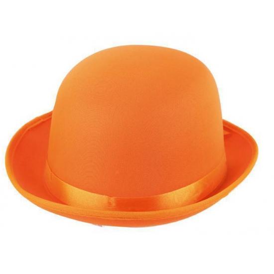 Satijn look bolhoed oranje