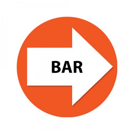 Set met oranje pijl en Bar stickers