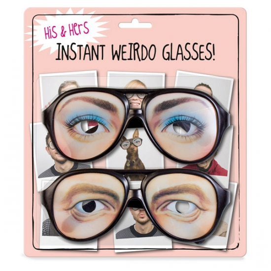 Set van twee nerd brillen