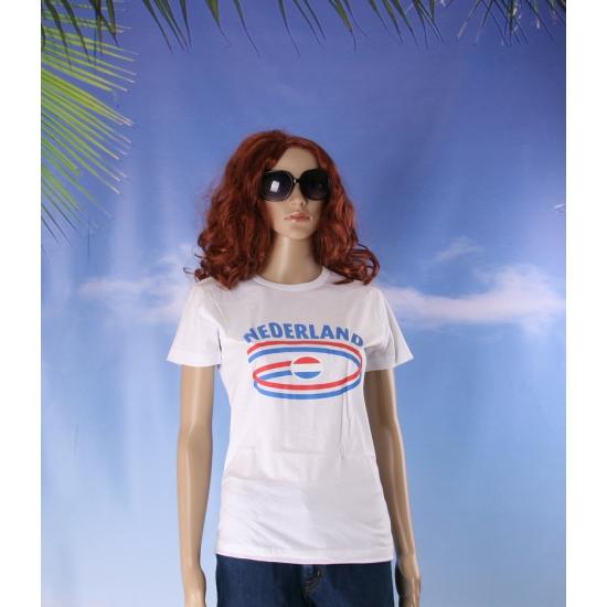 Shirts met vlaggen thema Nederland dames