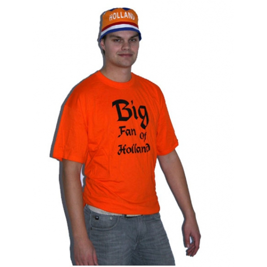 T shirt big fan oranje