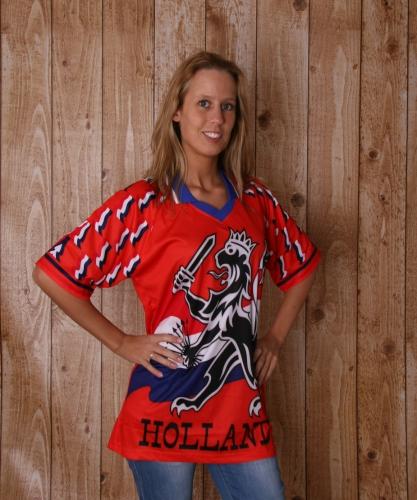 T shirt met Hollandse leeuw