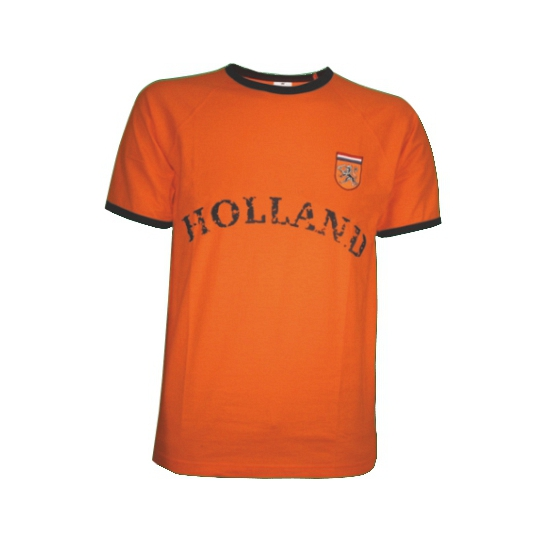 T shirt oranje met borduursel Holland
