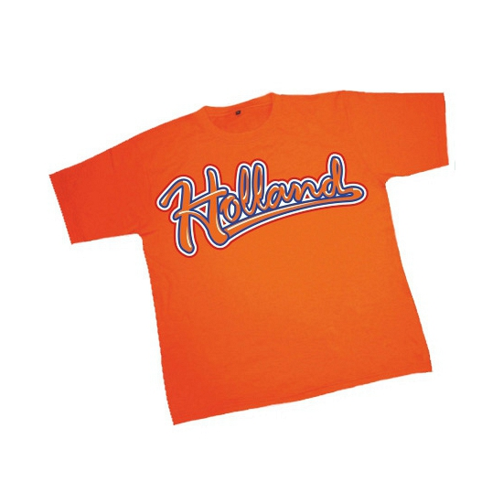 T shirt oranje met tekst Holland