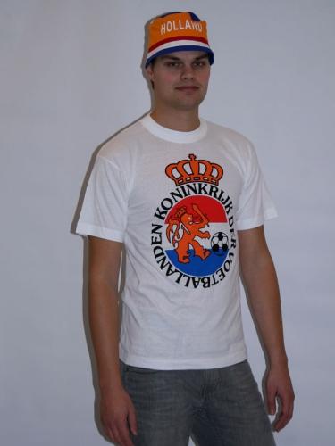 T shirt wit voetballand wapen