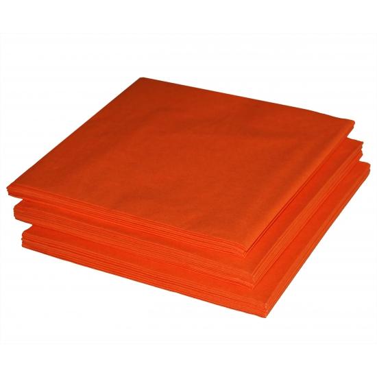 Tafeldecoratie oranje servetten 20 stuks