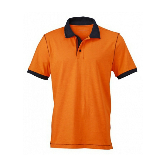 Trendy dames polo in het oranje
