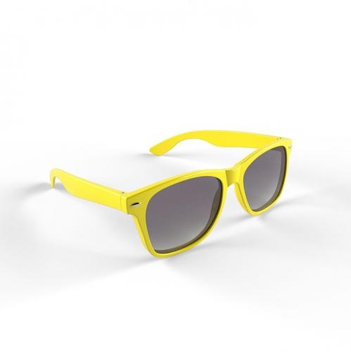 Trendy geel montuur zonnebril