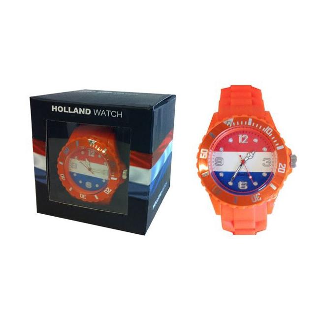 Trendy horloge oranje voor dames en kinderen