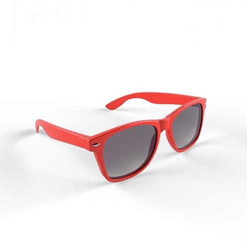 Trendy rood montuur zonnebril
