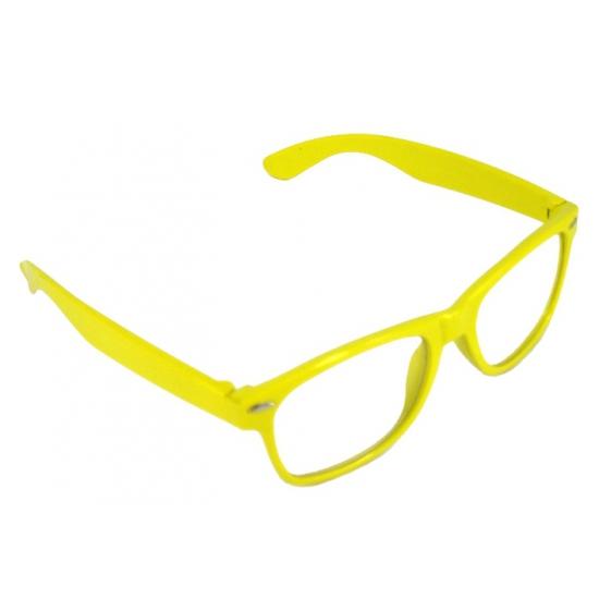 Verkleed bril geel