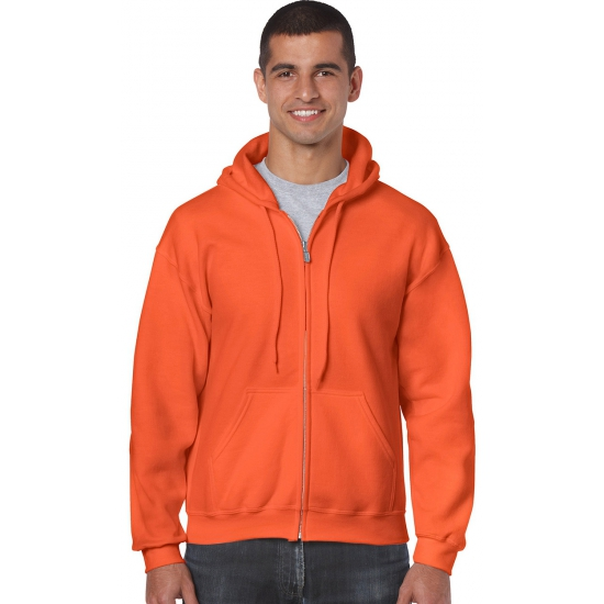 Vest met capuchon in de kleur oranje