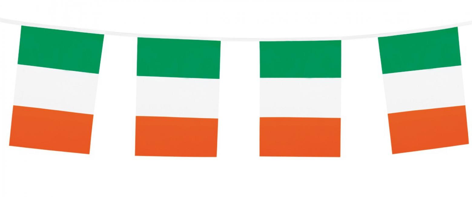 Vlaggenlijn groen/wit/oranje 10 m