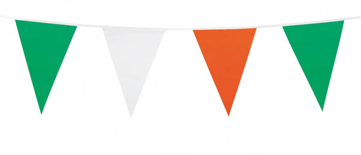 Vlaggenlijn groen/wit/oranje