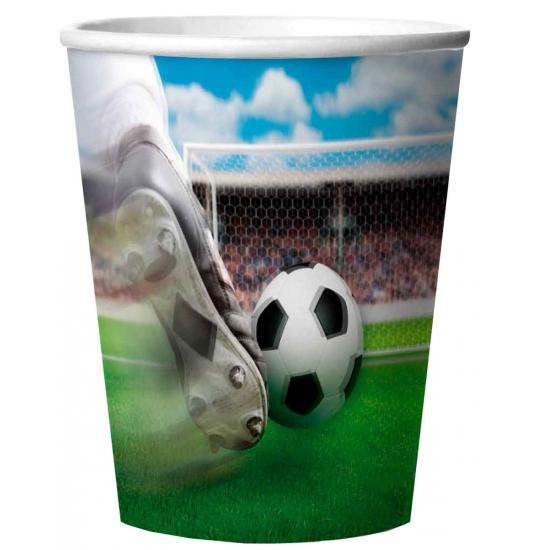Voetbal bekers met 3D effect 4 stuks