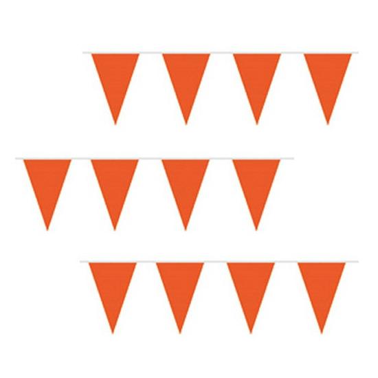 Voordelige oranje slingers 10 meter