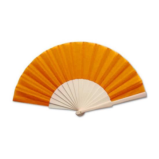 Voordelige oranje waaier 42 x 23 cm