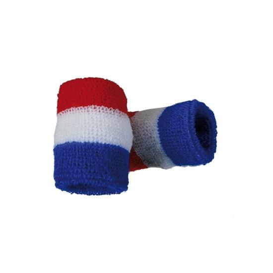 Voordelige zweetbandjes in rood wit blauw