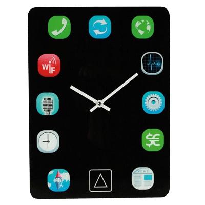 Wandklok met apps
