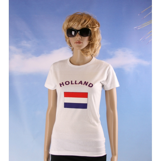 Wit dames t shirt Holland