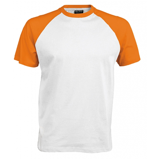 Wit oranje t shirts voor heren