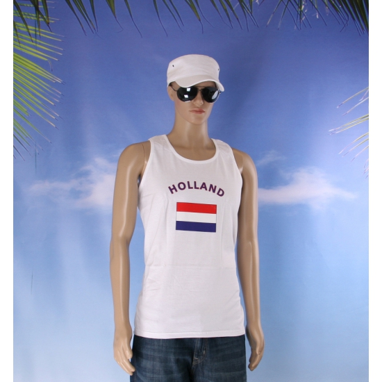 Witte heren tanktop Holland