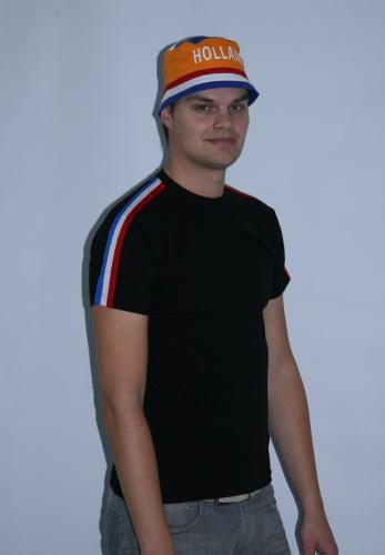 Zwart Holland shirt rrd/wit/blauw