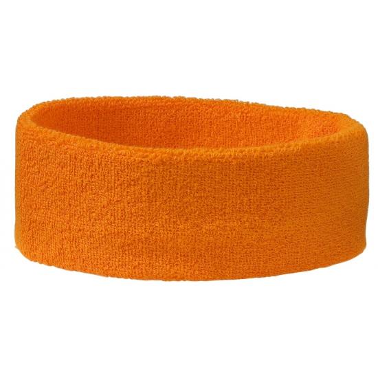 Zweetbandjes haarbandje oranje