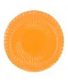 10 oranje bordjes 18 cm