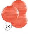 3 oranje lampionnen 35 cm