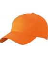 5 panel baseball pet oranje
