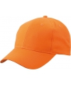 6 panel baseball cap oranje
