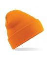 Basic winter muts oranje
