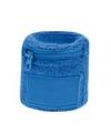 Blauwe zweetband met ritsje