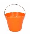 Citronella kaars 14 cm oranje