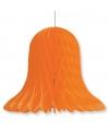 Decoratie kerst klokken oranje 30 cm