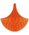 Decoratie kroonluchter oranje 35 cm
