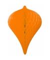 Decoratie pegel oranje 30 cm