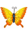 Decoratie vlinder geel oranje 22 cm