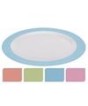 Diner bord plat melamine wit met oranje rand 26 cm