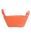 Gevlochten mandje oranje 24 cm