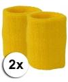 Gouden pols zweetbandjes 2 stuks