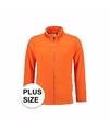 Grote maten oranje fleece vest met rits voor volwassenen