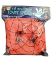 Halloween decoratie spinnenweb oranje 50 gram