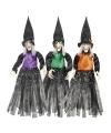 Halloween heksen hangdecoratie oranje 70 cm
