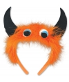 Halloween monster diadeem oranje zwart
