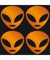 Halloween reflecterende alien stickers oranje