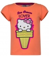 Hello kitty t shirt oranje